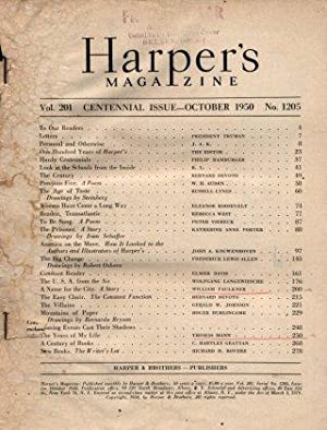 Harper's Magazine - Vol. 201 Centennial ISSUE-October 1950