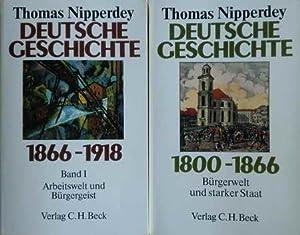 2 Bücher Deutsche Geschichte: 1800 - 1866: Nipperdey, Thomas