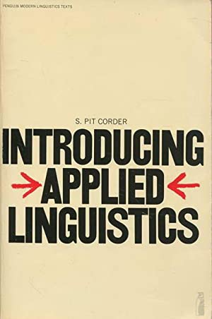 Introducing Applied Linguistics: Corder, Pit S.
