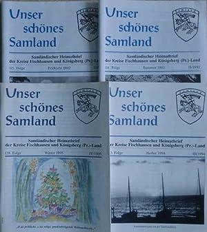 4 Samländische Heimatbriefe: Unser schönes Samland. Samländischer: Kreisgemeinschaft Fischhausen e.