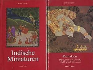 2 Bücher: Indische Miniaturen / Ramakien. Der: Gradmann, Erwin /