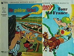 2 Asterix-Bände: Die goldene Sichel Band V / Tour de France Band VI