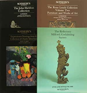 4 Auktionsbücher Sotheby's: The John Sheldon Collection: Sotheby's