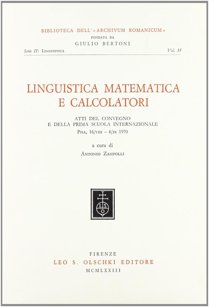 Linguistica matematica e calcolatori