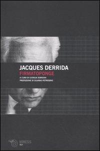 Firmatoponge - Derrida, Jacques