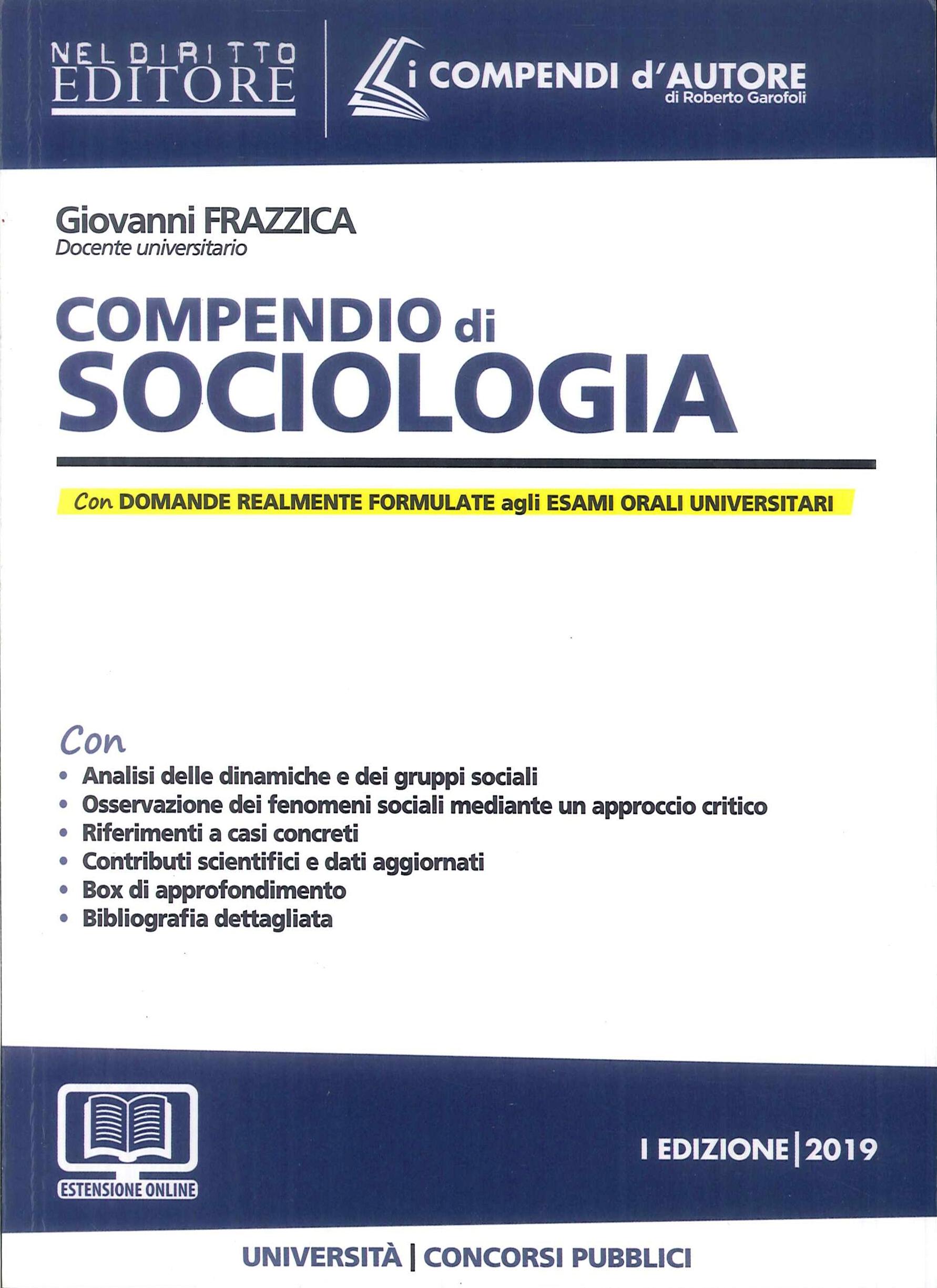 Compendio di Sociologia. - Giovanni Frazzica