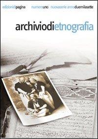 Archivio di etnografia (2007). Vol. 1.: aa.vv.