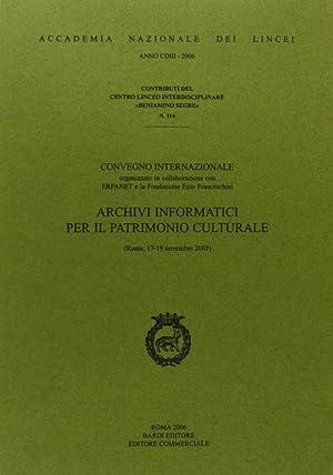 Archivi informatici per il patrimonio culturale.: aa.vv.