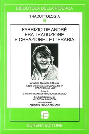 Fabrizio De André fra traduzione e creazione letteraria.