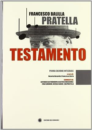Testamento.: Pratella, Francesco B