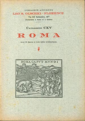 Choix de livres anciens rares et curieux. Vol. 11/2: Roma.: Olschki, Leo S