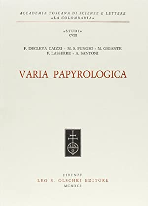 Varia papyrologica.: AA.VV