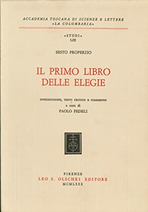 Il primo libro delle elegie.: Properzio, Sesto