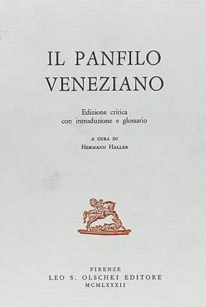 Il panfilo veneziano. Ed. critica con introduzione