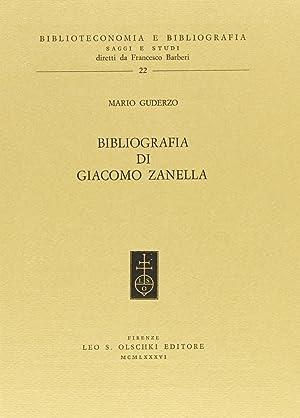 Bibliografia di Giacomo Zanella.: Guderzo, Mario