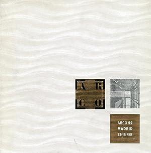 Arco 92 Madrid 13-18 Feb. Feria International De Arte Contemporàneo. International ...