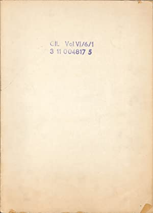 Corpus Inscriptionum Latinarum. Vol. VI, Pars 6,: Bang, Martin