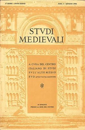 Studi medievali 1996. [edizione incompleta. Disponibile solo fasicolo 1].