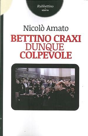Bettino Craxi, Dunque Colpevole.: Amato, Nicolò