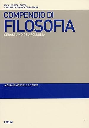 Compendio di filosofia.: De Apollonia, Sebastiano