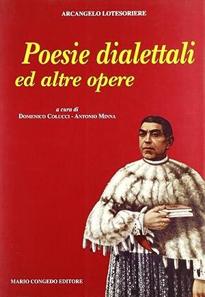 Poesie dialettali ed altre opere.: Lotesoriere, Arcangelo