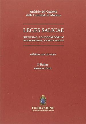 Leges Salicae Ripuariae, Longobardorum Baioariorum, Caroli Magni. Con CD-ROM.: Golinelli, Paolo ...