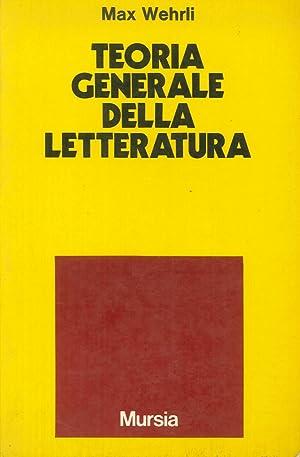 Teoria generale della letteratura.: Wehrli, Max