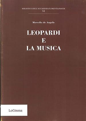 Leopardi e la Musica.: De Angelis, Marcello