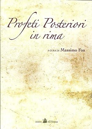 Profeti posteriori in rima.: Foa, Massimo