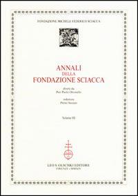 Annali della Fondazione Sciacca. Vol. 3.: AA.VV