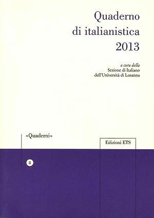 Quaderno di italianistica 2013.: aa.vv.
