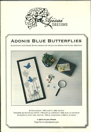 Adonis Blue Buterflies. Cross Stitch and Blackwork Design.: Sardu, Valentina