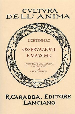 Osservazioni e massime.: Lichtenberg, Georg C