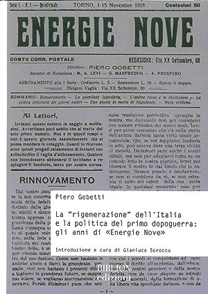 """La """"Rigenerazione"""" dell'Italia e la Politica del Primo Dopoguerra. Gli Anni di &quot..."""