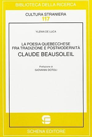 La poesia quebecchese tra tradizione e postmodernità.: De Luca, Ylenia
