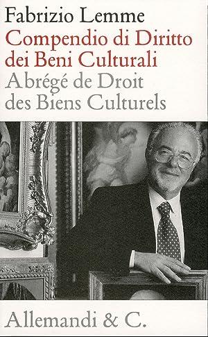 Compendio di diritto dei beni culturali. Abrégé des droit des biens culturels.: Lemme...