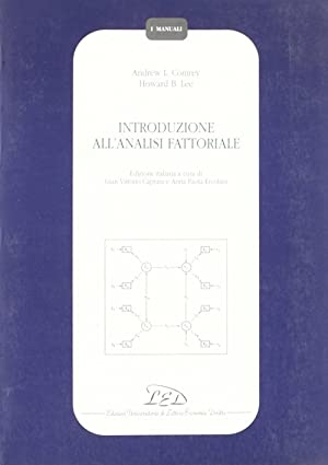 Introduzione all'analisi fattoriale.: Comrey, Andrew L Lee, Howard B