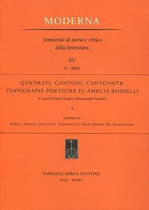 Quadrati, cantoni, cantonate. Topografie poetiche di Amelia Rosselli.