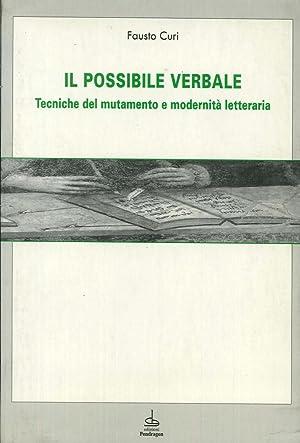 Il possibile verbale.: Curi, Fausto