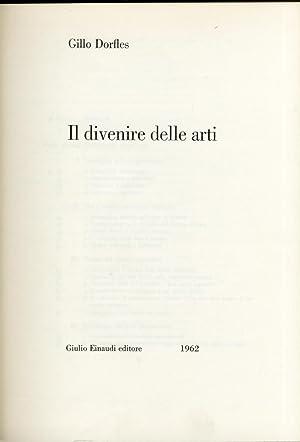 Il divenire delle arti.: Dorfles, Gillo