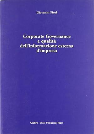 Corporate Governance e qualità dell'informazione esterna d'impresa.: Fiori, ...