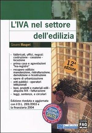 L'IVA nel settore dell'edilizia.: Maugeri, Giovanni