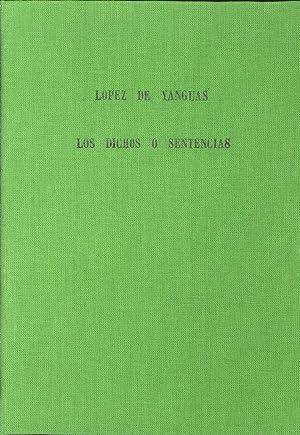 Los Dichos o Sentencias.: Lopez de Yanguas