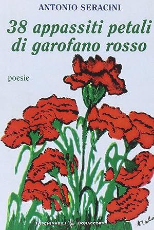 Trentotto appassiti petali di garofano rosso.: Seracini, Antonio