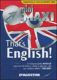 That's English. Con mini CD.