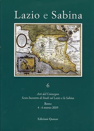 Lazio e Sabina. Vol. 6