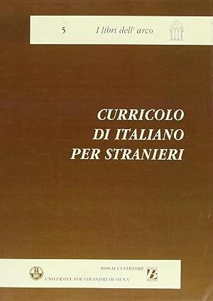 Curricolo di italiano per stranieri.