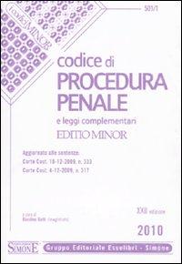 Codice di procedura penale e leggi complementari. Ediz. minore.