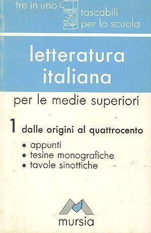 Letteratura italiana. Vol. 1.: Casta, Mario