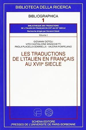 Les traductions de l'italien en francais au XVII/e siècle.: aa.vv.